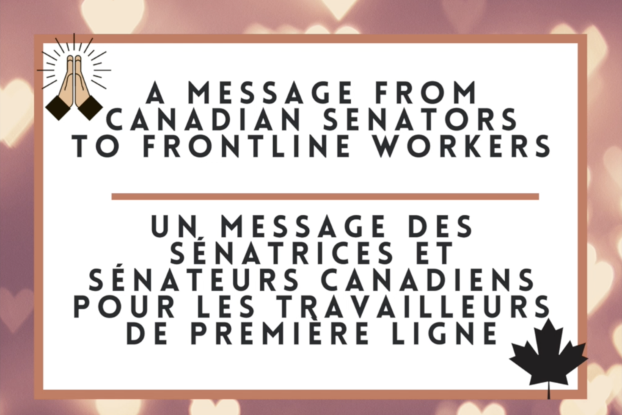 A Message from Canadian Senators to Frontline Workers